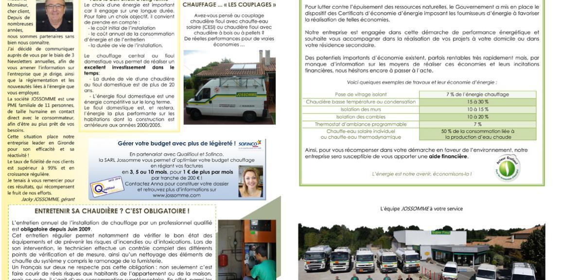 Newsletter 1 – Mars 2012