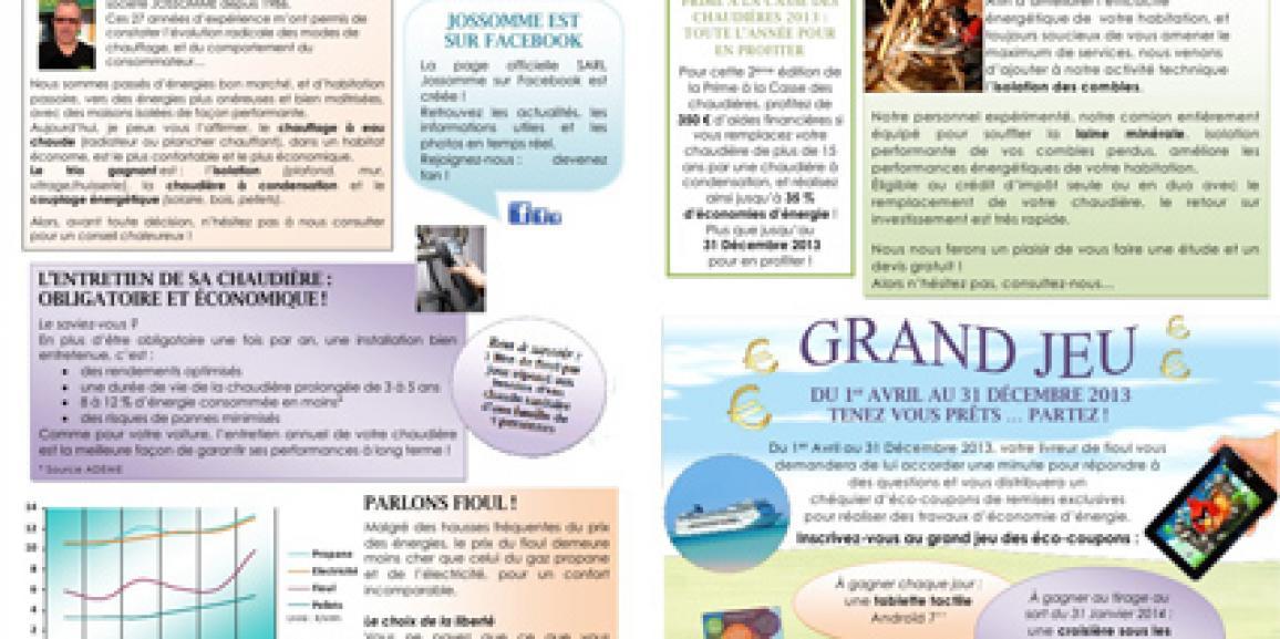 Newsletter 3 – Février 2013